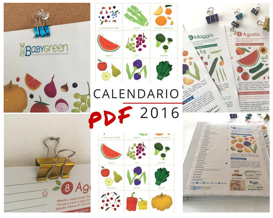 Favoloso Calendario 2016 di BabyGreen: PDF da stampare - BabyGreen XB06