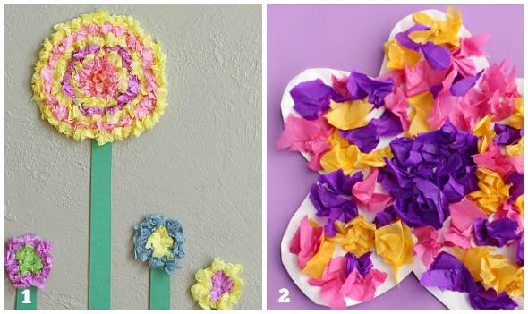 Fiori di carta per bambini babygreen for Fiori di cartoncino