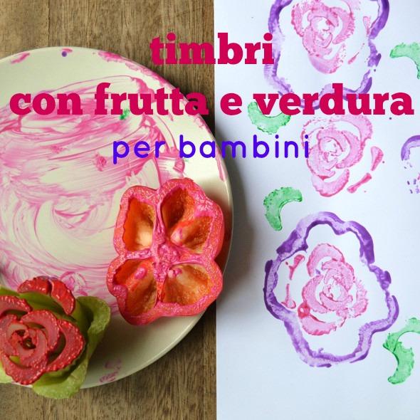 Timbri con frutta e verdura