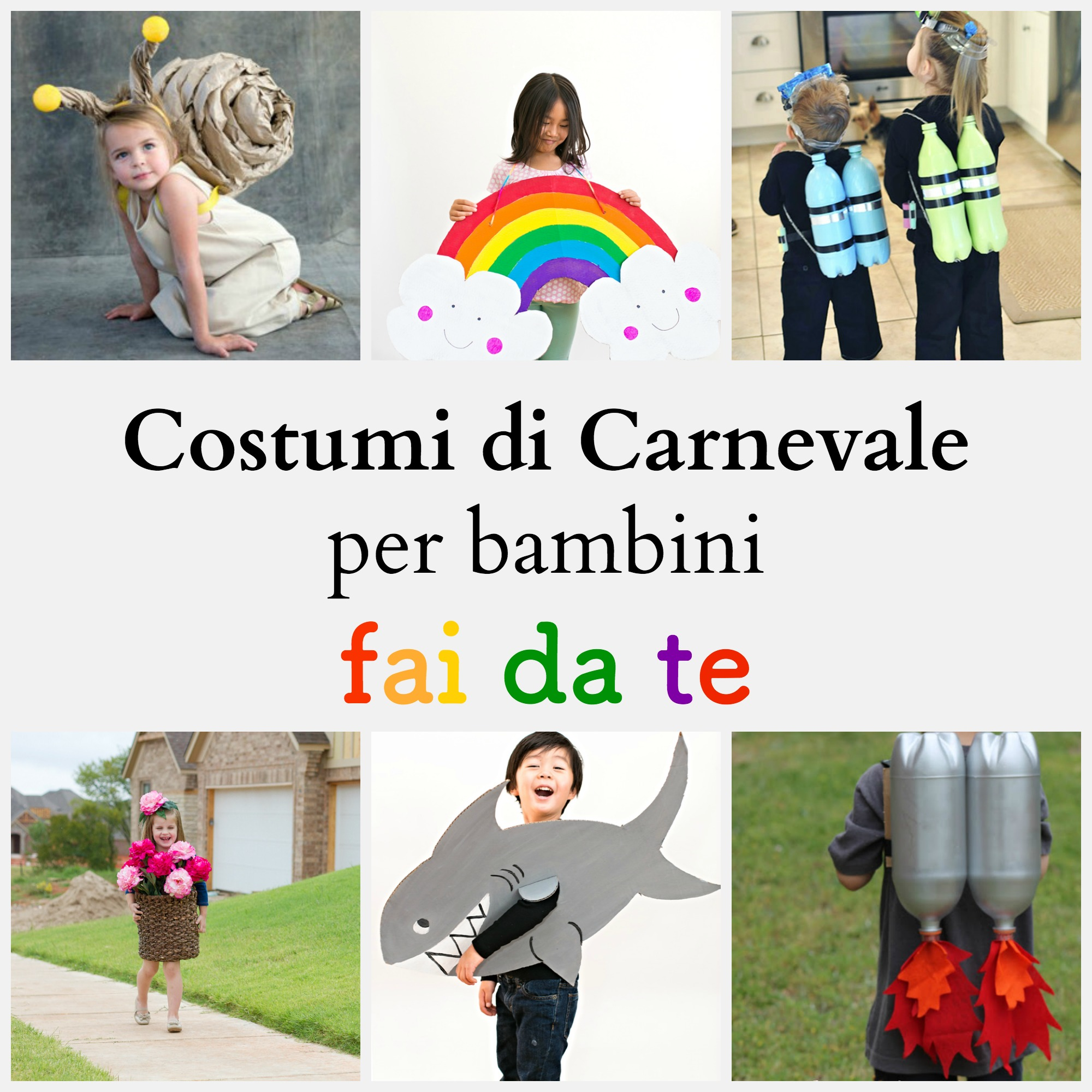 Conosciuto Costumi di Carnevale per bambini fai da te - BabyGreen QS75