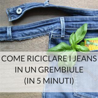 Come riciclare i jeans in un grembiule (in 5 minuti)