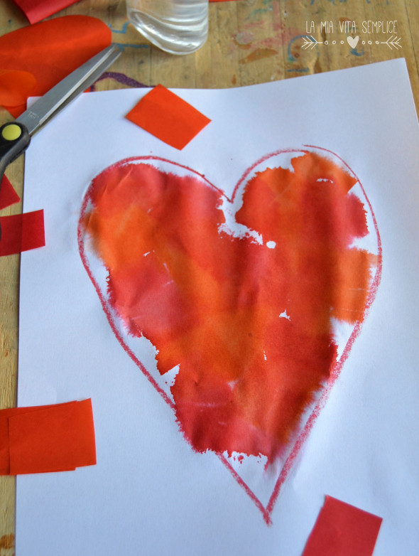 Dipingere con la carta velina