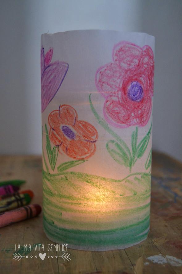 Lanterna con carta da forno