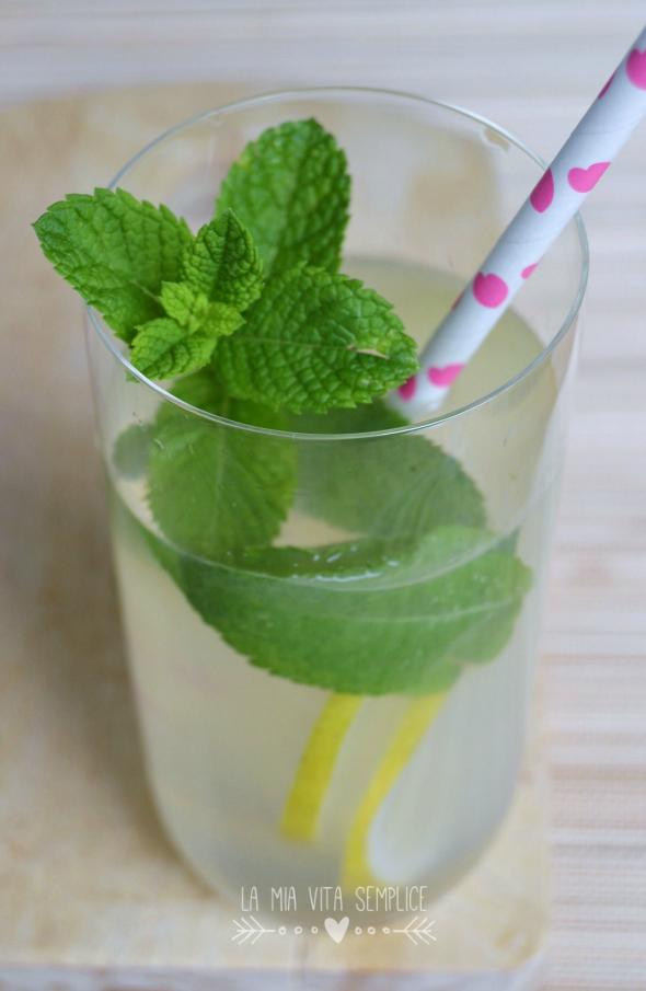 Limonata fatta in casa con menta fresca