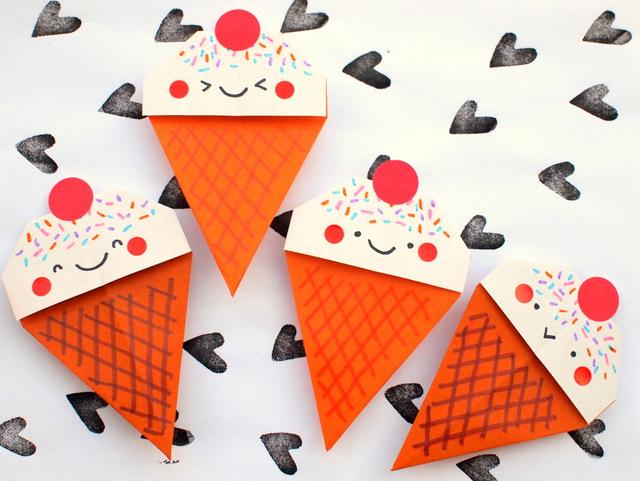Gelato origami