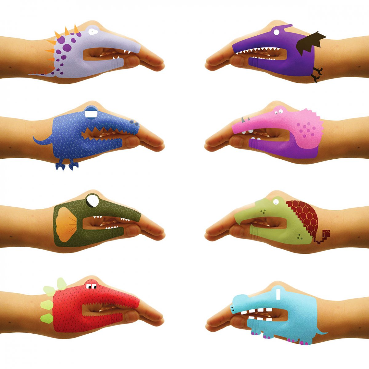 Tatuaggio temporaneo Dino Hands_NPW
