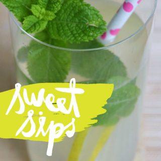 Limonata fatta in casa con la menta fresca