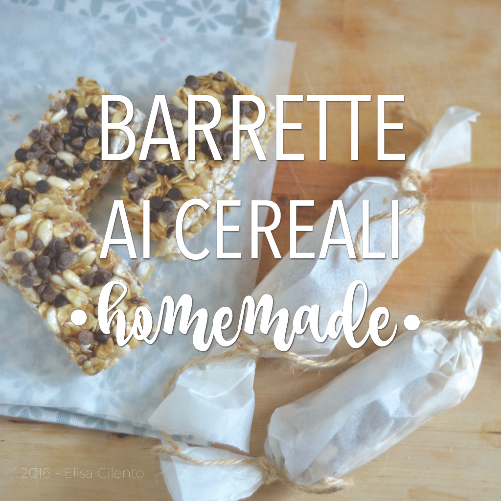 Barrette ai cereali fatte in casa