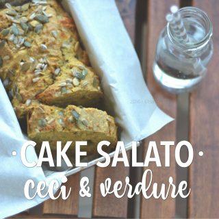 Cake salato di ceci e verdure