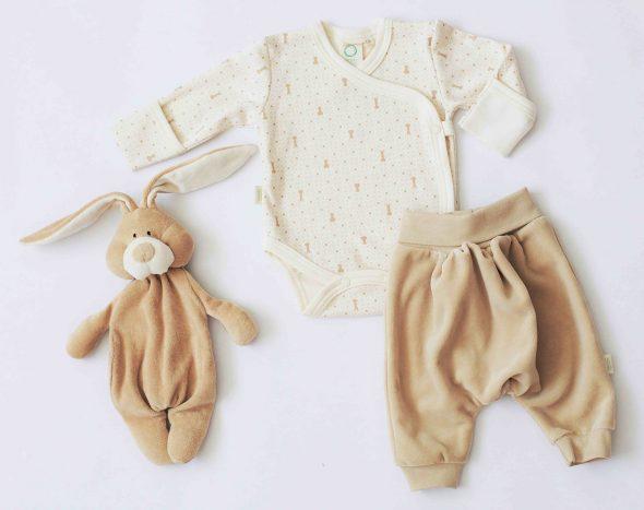 Completo neonato cotone organico