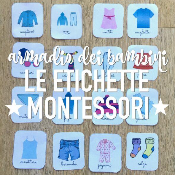 Etichette per armadio Montessori