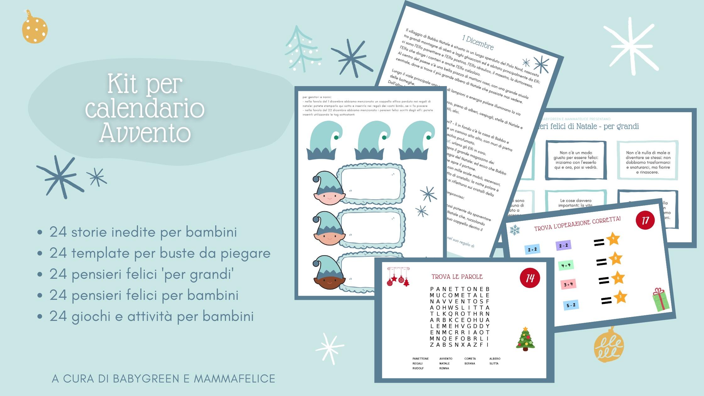 Calendario Da Scaricare.Storie Per Calendario Avvento Da Scaricare E Stampare