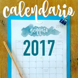 Calendario 2017 di BabyGreen: PDF stampabile