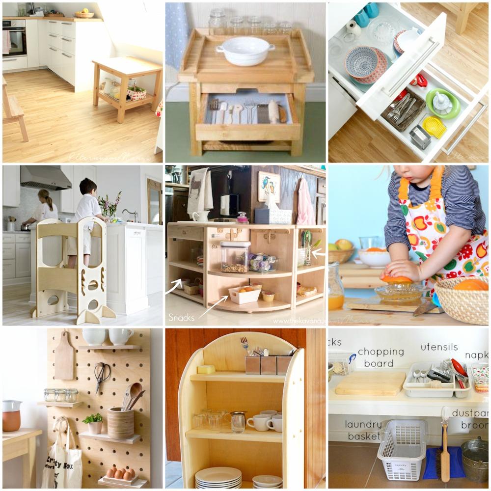 Montessori come organizzare la cucina babygreen for Cucina giocattolo fai da te