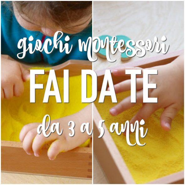 8858d9a6745dec I giochi Montessori fai da te per i bambini da 3 a 5 anni vedono  protagonisti i bambini nel pieno del loro sviluppo psicofisico. Sono gli  anni in cui non si ...