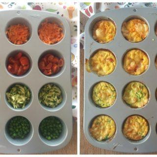Frittatine di verdure al forno (in 5 minuti)