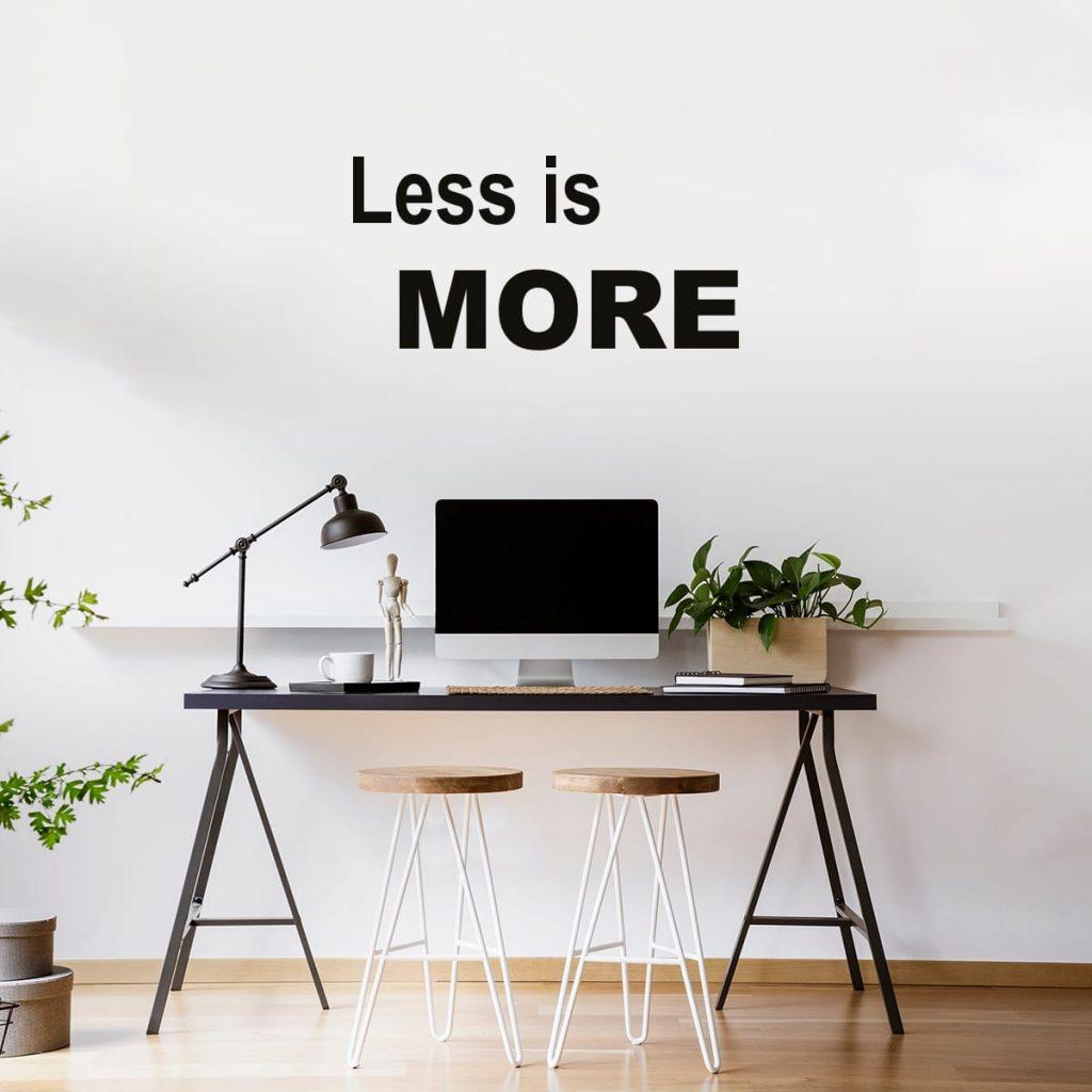 less-is-more-adesivo-murale