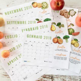 Calendario 2018: PDF da stampare