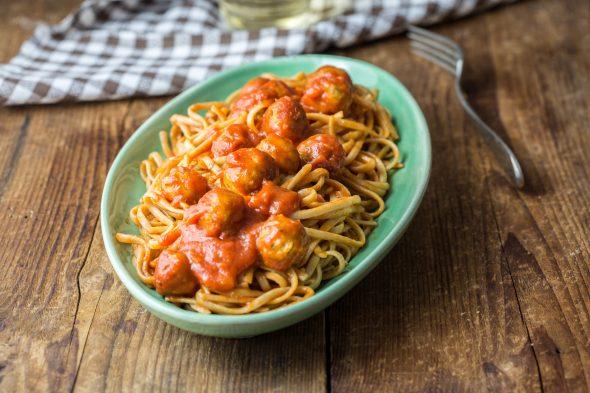 spaghetti polpette vegane