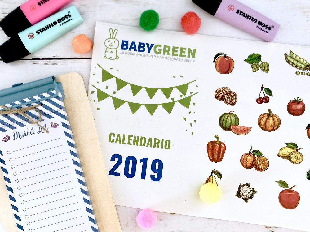 Calendario Appunti 2019.Calendario 2019 Pdf Da Stampare Anche Frutta Verdura