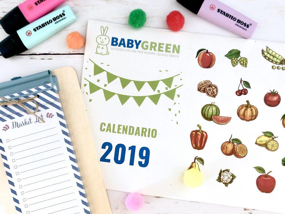Calendario Appunti Da Stampare.Calendario 2019 Pdf Da Stampare Anche Frutta Verdura
