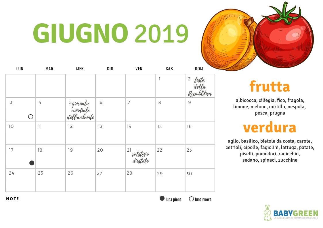 Calendario Di Giugno.Giugno Semplice E Organizzato La Miniguida Babygreen