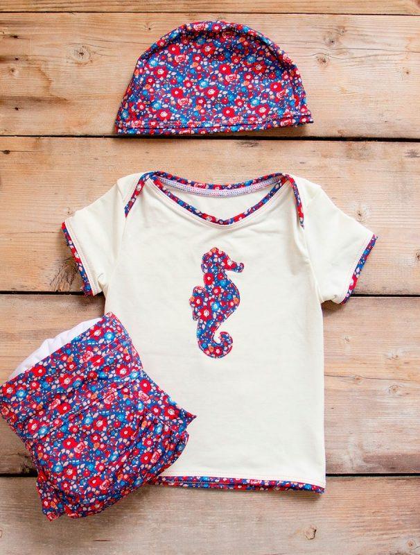bambini neonati mare pannolino costume