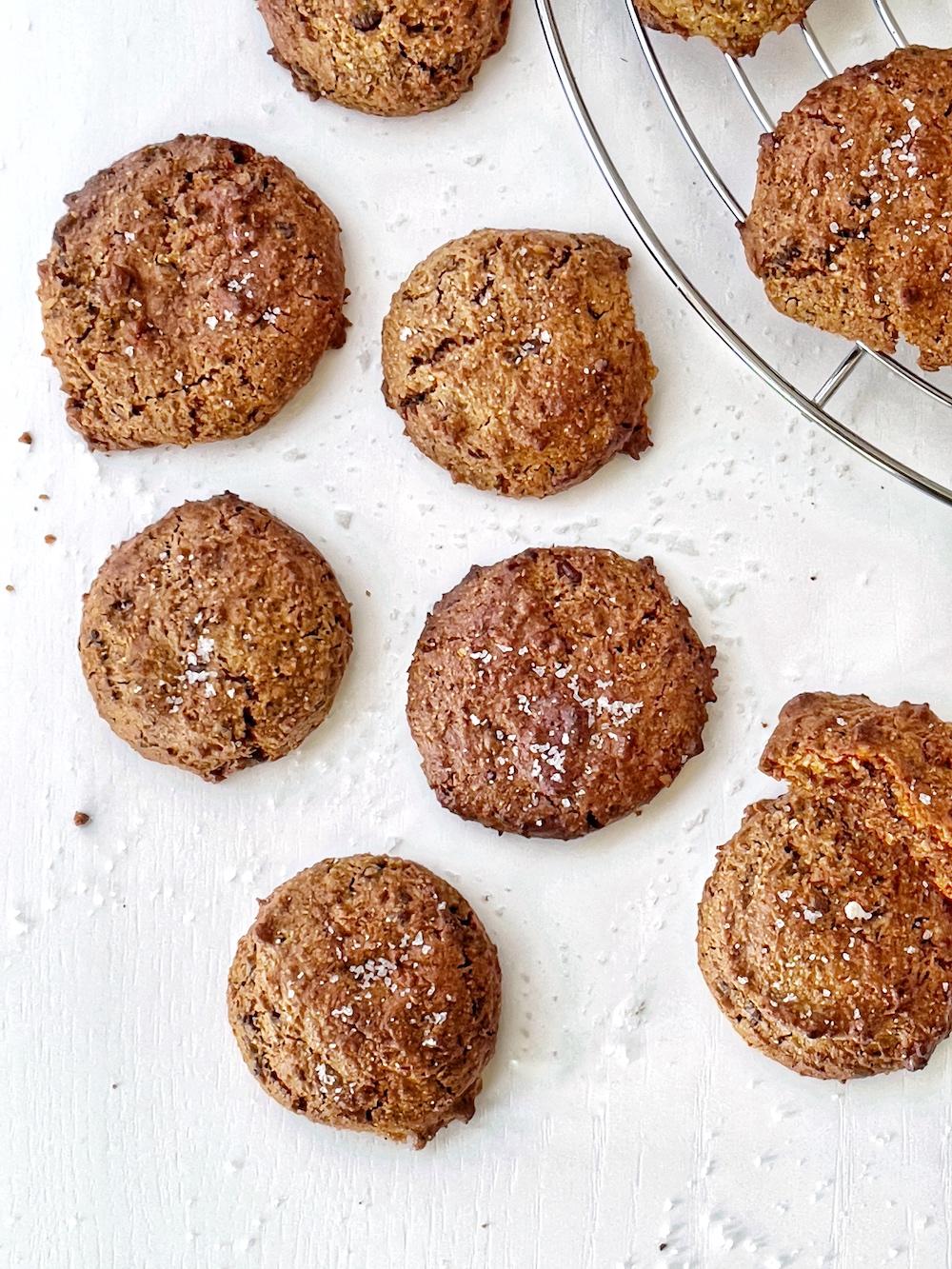 Cookies vegan di ceci, al cioccolato e senza farina